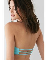 Forever 21 | Blue Caged-back Bandeau | Lyst