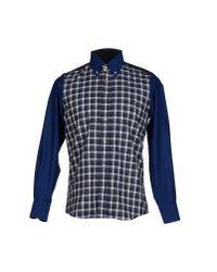 Harmont & Blaine - Blue Shirt for Men - Lyst