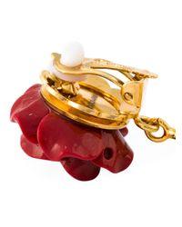 Dolce & Gabbana | Metallic Rose Clip-on Earrings | Lyst