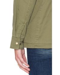 Velvet By Graham & Spencer - Green Lu Faux Fur Parka - Lyst