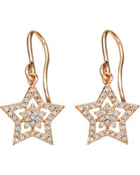 Astley Clarke - Pink Super Star Drop 14ct Rose-gold And Diamond Drop Earrings - Lyst