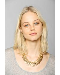 Urban Outfitters - Metallic Chunky Mixed Chain Necklace - Lyst