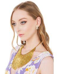 AKIRA - Metallic Fringe Benefits Gold Necklace - Lyst