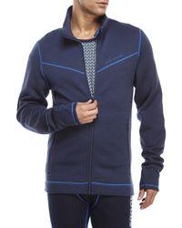Moods Of Norway - Blue Potter Wool Fleece Jacket for Men - Lyst