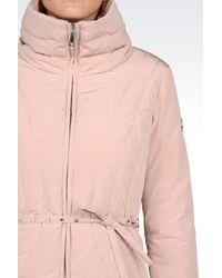Armani Jeans | Pink Down Coat | Lyst