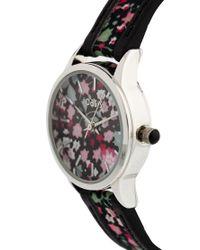 Oasis - Black Dark Flower Strap Watch - Lyst