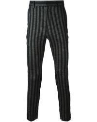 Haider Ackermann | Black Striped Trousers for Men | Lyst