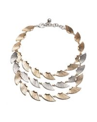 Lulu Frost - Metallic Horizon Triple Necklace - Lyst