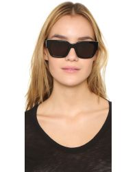 Marc By Marc Jacobs - Studded Sunglasses - Black/brown Grey - Lyst