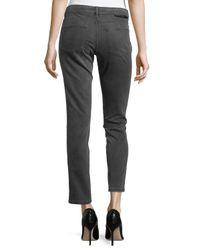 Stella McCartney - Gray Skinny Ankle Grazer Denim Jeans - Lyst