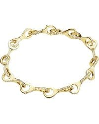 Georg Jensen - Metallic Dune 18ct Yellow Gold And Diamond Bracelet - For Women - Lyst
