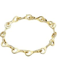 Georg Jensen | Metallic Dune 18ct Yellow Gold And Diamond Bracelet - For Women | Lyst