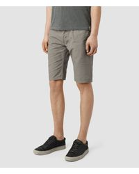 AllSaints | Gray Sodium Switch Shorts for Men | Lyst