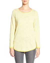 Eileen Fisher | Yellow Organic Linen & Cotton Ballet Neck Tunic | Lyst