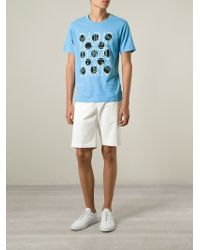KENZO | Blue Dots And Logo Print T-Shirt for Men | Lyst