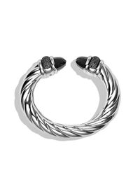 David Yurman | Metallic Waverly Bracelet With Diamonds, 25mm | Lyst