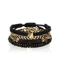 River Island - Black Ethnic Beaded Bracelets Pack for Men - Lyst