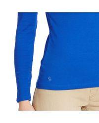 Ralph Lauren | Blue Stretch Cotton Boatneck Top | Lyst