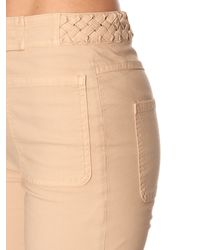 See By Chloé - Natural High-rise Flared Cotton Jeans - Lyst