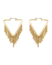 Marc By Marc Jacobs   Metallic 'triangle Pointer' Earrings   Lyst