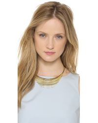 Gemma Redux - Metallic Mechanix Breast Plate Necklace Goldsilver - Lyst