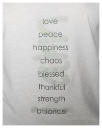 Peace Love World - White Khloe L/s Crew - Lyst