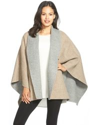 Eileen Fisher | Natural Double Face Alpaca Blend Poncho | Lyst