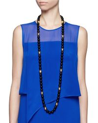 Kenneth Jay Lane | Black Long Bead Necklace | Lyst