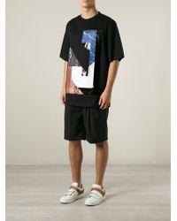 Juun.J - Black Marble J Print T-Shirt for Men - Lyst