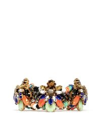 J.Crew - Multicolor Stone Burst Bracelet - Lyst