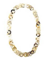 Nest | White Mixed Horn Circle-Link Necklace | Lyst