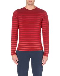 Orlebar Brown | Purple Striped Long-sleeved Cotton-jersey Top - For Men for Men | Lyst