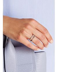 Vita Fede | Metallic Ultra Mini Titan Silver-plated Swarovski Ring | Lyst