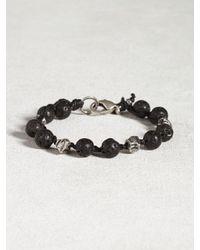 John Varvatos   Black Lava Bead Bracelet for Men   Lyst