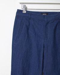 A.P.C. - Blue Cortina Pantalon - Lyst