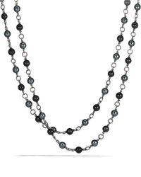 David Yurman | Bead Necklace With Black Onyx And Hematine | Lyst