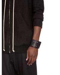 Rick Owens | Black Double Leather Cuff for Men | Lyst