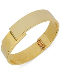 Kenneth Cole | Metallic Gold-tone Hinged Bangle Bracelet | Lyst