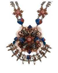 Vickisarge | Multicolor Large Moroccan Rose Crystal Necklace | Lyst