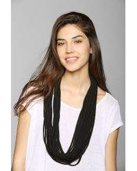 Urban Outfitters | Black Shredded Necklace Eternity Scarf | Lyst