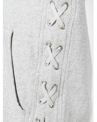 Faith Connexion - Gray Side Lace-up Fastening Hoodie for Men - Lyst