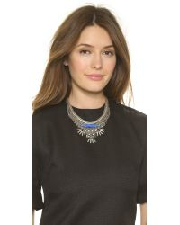 DANNIJO - Kofi Necklace - Blue/ox Silver - Lyst