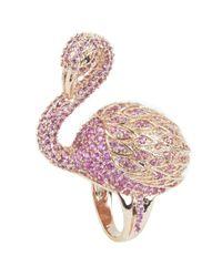 Noir Jewelry | Metallic Flamenco Ring | Lyst