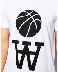WOOD WOOD - White Team Aa T-shirt for Men - Lyst