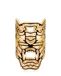 KENZO | Metallic Oversized Tiger Ring | Lyst