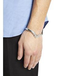 Alexander McQueen - Metallic Silver Tone Ribcage Bracelet for Men - Lyst