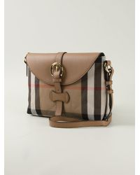 Burberry - Brown Haymarket Check Cross-Body Bag - Lyst