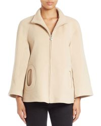 Betsey Johnson | Natural Wool-rich Cape Jacket | Lyst