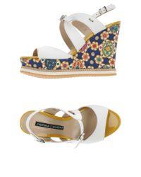 Norma J. Baker White Sandals
