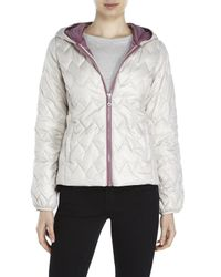 Kenneth Cole - White Lightweight Zigzag-Quilted Jacket - Lyst
